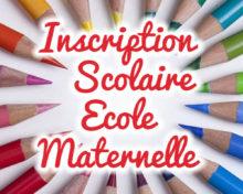 Inscriptions école maternelle du 1er au 12 Avril 2019
